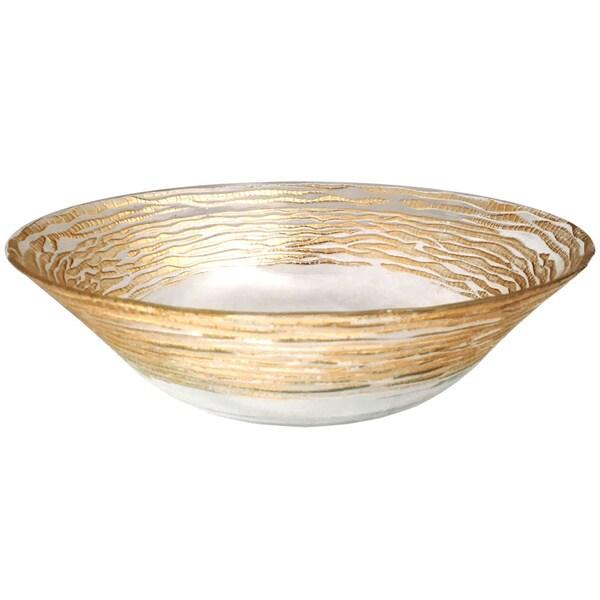 Magara Deep Clear and Gold Bowl