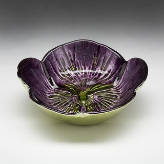 Pansy Purple/ Green Bowl