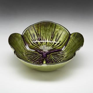 Pansy Green/ Purple Bowl