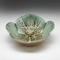 Pansy Turquoise/ Gold Bowl