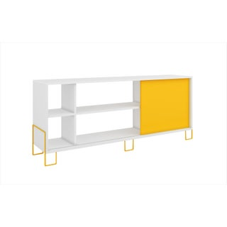 Accentuations by Manhattan Comfort Nacka 4-shelf TV Stand with Sliding Door