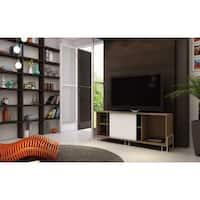 Accentuations by Manhattan Comfort Nacka 4-shelf TV Stand with Sliding Door