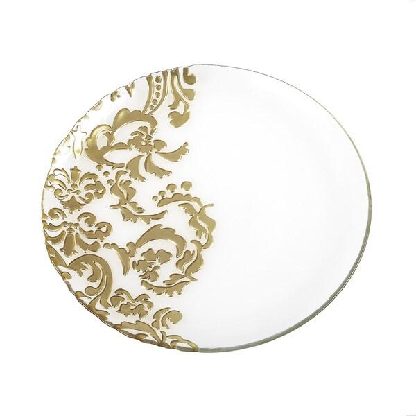 Damask Dinner Serving Plate
