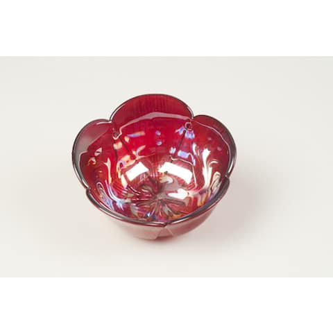 Poppy Red with Luster Bowl
