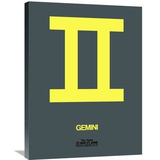 Naxart Studio 'Gemini Zodiac Sign Yellow' Stretched Canvas Wall Art