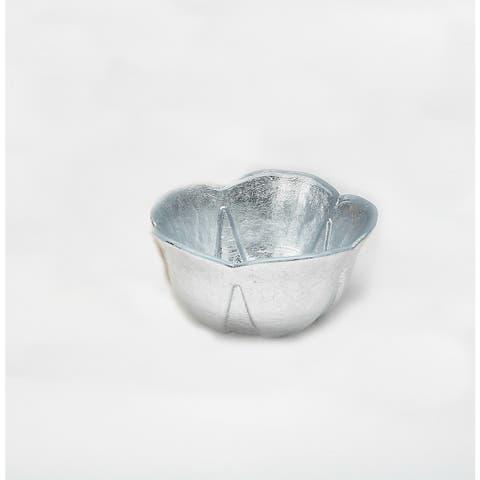 Poppy Silver Leaf Bowl