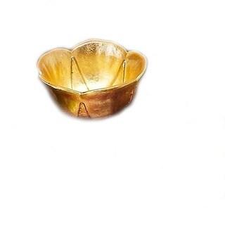 Poppy Gold Leaf Bowl