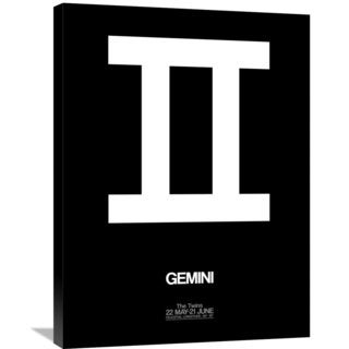 Naxart Studio 'Gemini Zodiac Sign White' Stretched Canvas Wall Art
