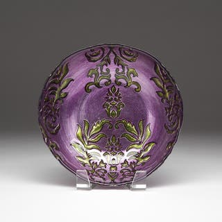 Damask Purple/ Green Bowl|https://ak1.ostkcdn.com/images/products/11546588/P18491761.jpg?impolicy=medium