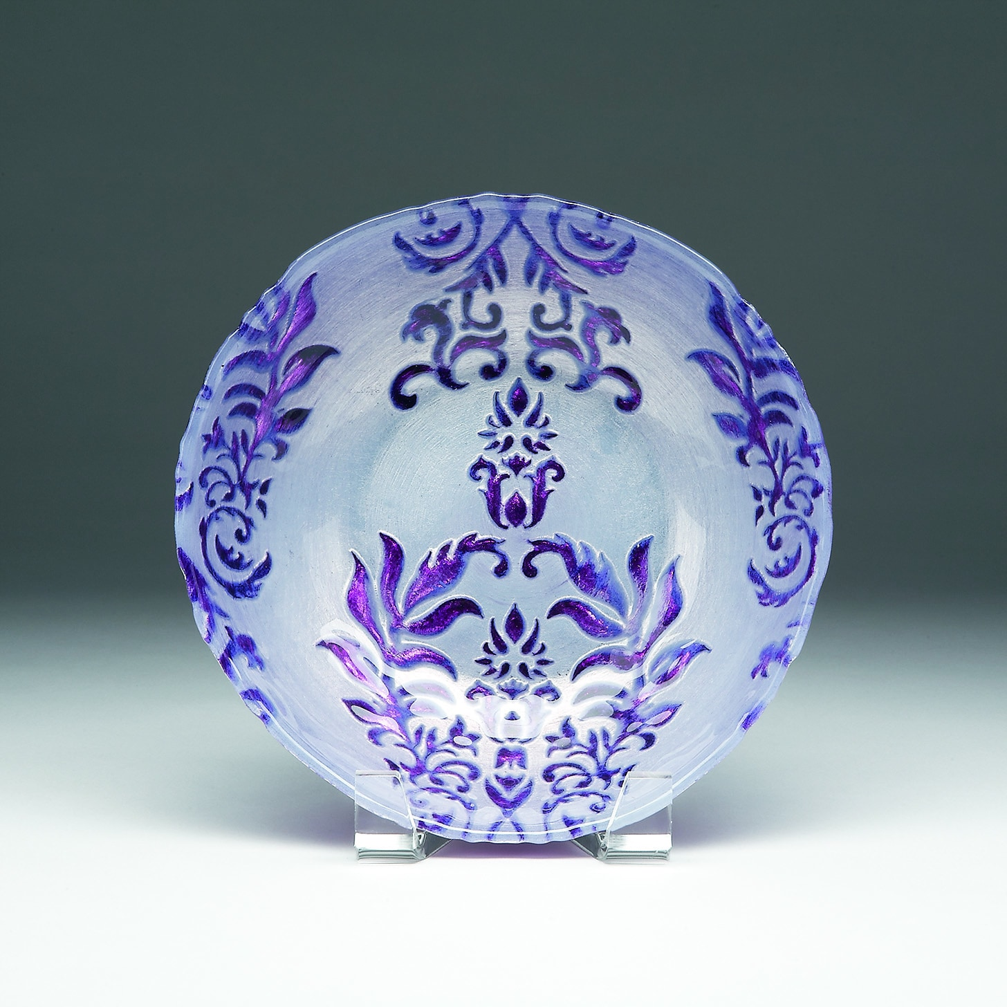 Red Pomegranate Gilded Tableware Damask Two Purple Bowl (...