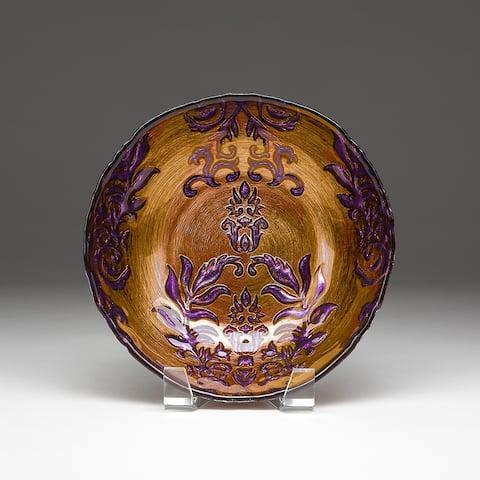 Damask Copper/ Purple Bowl