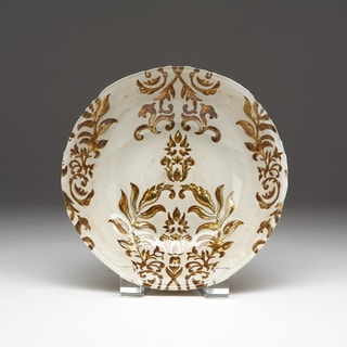 Damask Ivory/ Gold Bowl
