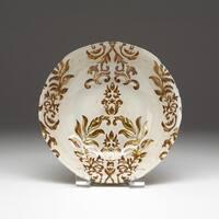 Damask Ivory/ Gold Bowl