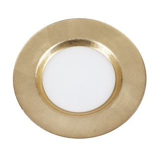 Mona White Gold Band Charger Plate