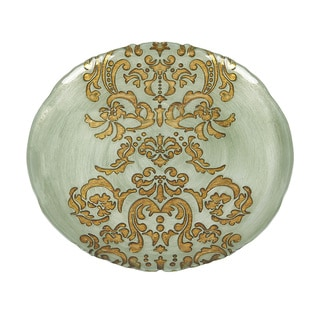 Damask Turquoise Gold Charger Plate