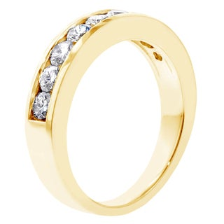 14k Yellow Gold 1ct TDW Channel-set Brilliant-cut Diamond Wedding Ring