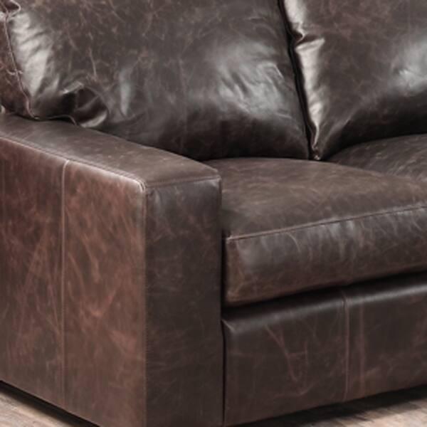 Astounding Shop Maxweld Premium Distressed Brown Top Grain Leather Sofa Short Links Chair Design For Home Short Linksinfo