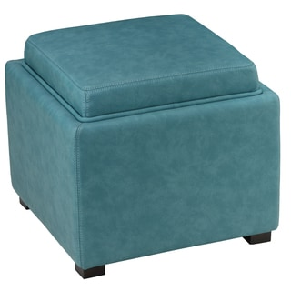 Veagan Leather Multiple Use Ottoman