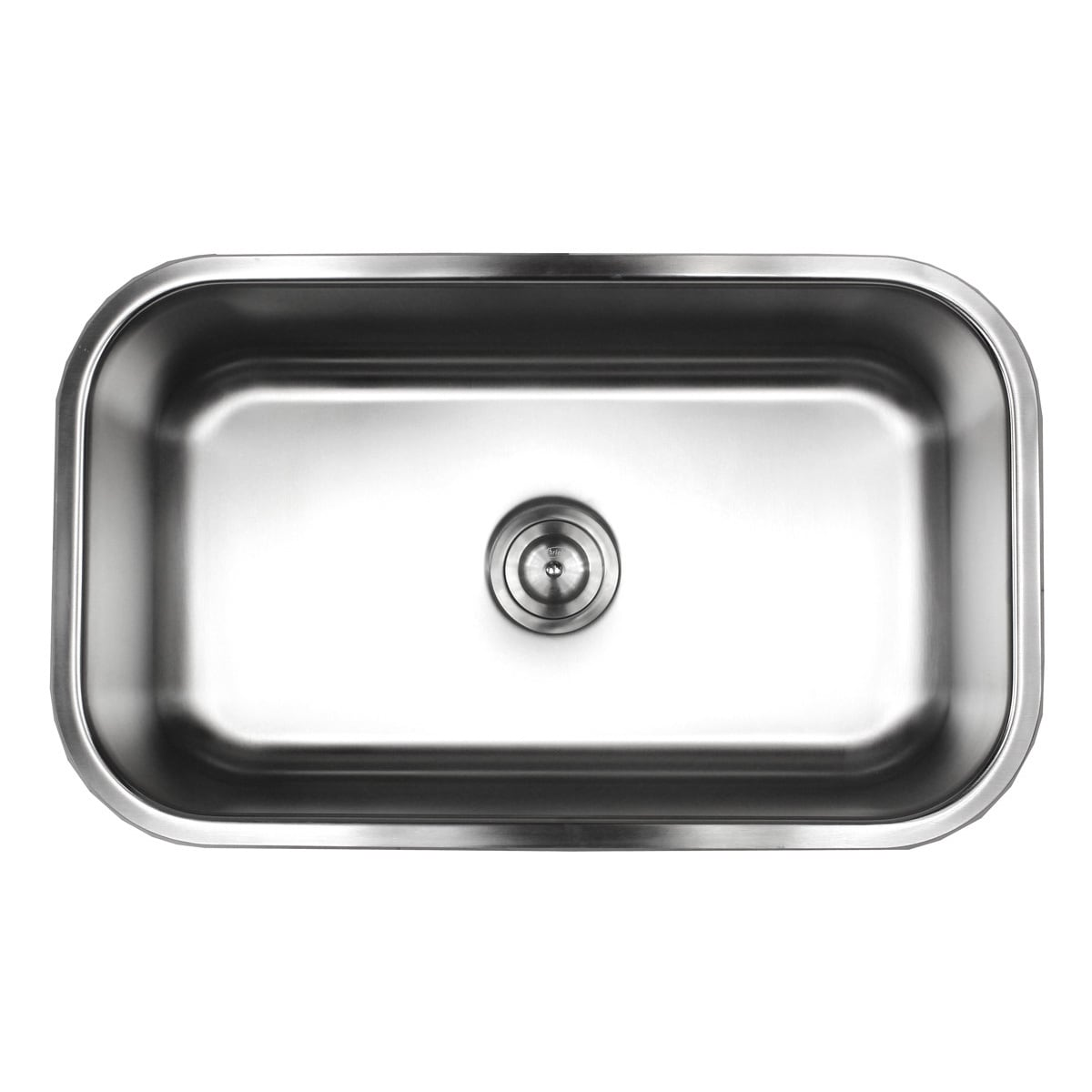 Brushed Satin 18-gauge Stainless Steel 30-inch Undermount Single-bowl  Kitchen with Sink Basket Strainer