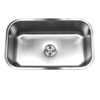 Brushed Satin 18-gauge Stainless Steel 30-inch Undermount Single-bowl Kitchen with Sink Basket Strainer