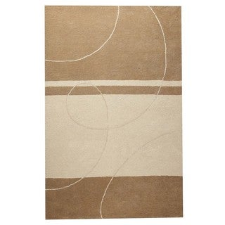 M.A.Trading Hand-Tufted Indo Trenza Beige Rug (5'0 x 7'0)