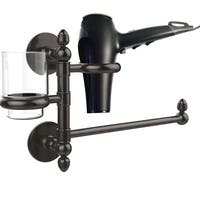 Allied Brass Prestige Skyline Collection Hair Dryer Holder and Organizer