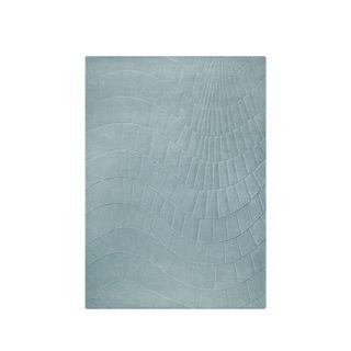 M.A. Trading Hand-tufted Indo Terraza Aqua Rug (5'6 x 7'10)