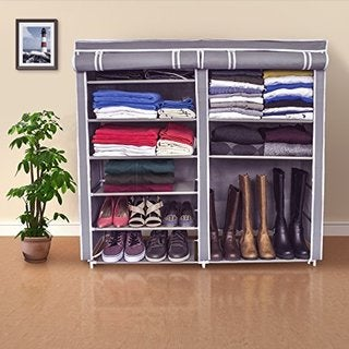 Double Shoe Rack Organizer with Cover
