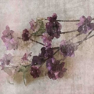 Marmont Hill 'Purple Flowers 2' by Irena Orlov Painting Print on Canvas