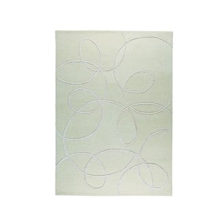 Hand-tufted Indo Madrid White Rug (5'6 x 7'10)