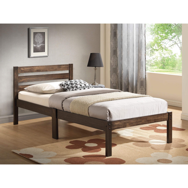 "ACME Donato Ash Brown Twin Bed (Ash Brown, 78""L x 42""D x ..."