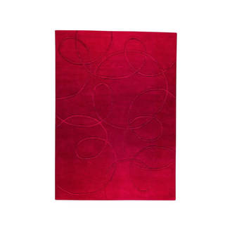 M.A. Trading Hand-tufted Indo Madrid Red Rug (5'6 x 7'10)