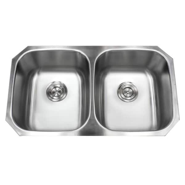 Shop Stainless Steel Undermount 32 5 Inch 50 50 Double Bowl