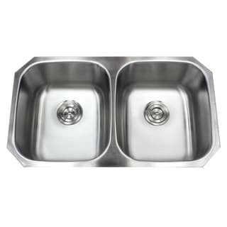 Stainless Steel Undermount 32.5-inch 50/50 Double Bowl Kitchen Sink