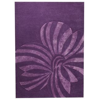 M.A. Trading Hand-tufted Indo Jasmine Violet Rug (5'6 x 7'10)