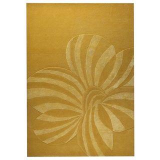 Hand-tufted Indo Jasmine Gold Rug (5'6 x 7'10)