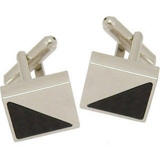 Elegance Nickel Plated Carbon Fibre Cufflinks