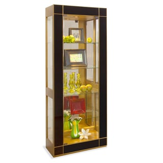 Philip Reinisch Co. Altair II Pier Contemporary Curio Display Cabinet