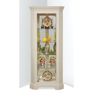 Philip Reinisch Co. White Lighthouse Newport II Corner Curio Cabinet