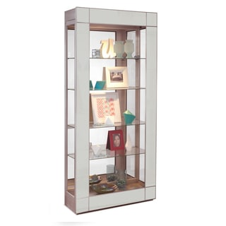 Philip Reinisch Co. Silver Halo Altair Contemporary Display Cabinet