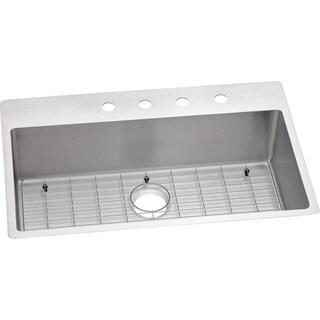 Elkay Crosstown Universal Mount Steel ECTSRS33229BG1 Satin Kitchen Sink