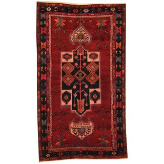 Herat Oriental Persian Hand-knotted 1960s Semi-antique Hamadan Wool Rug (4'7 x 7'7)