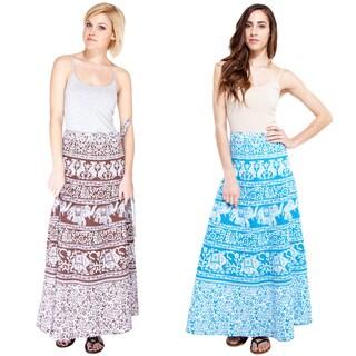 Handmade An Elephant's Spring Summer Wrap Skirt (India)