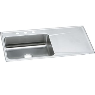 Elkay Gourmet Drop In/Self Rimming Steel ILR4322L3 Lustertone Kitchen Sink