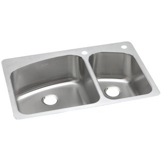 Elkay Gourmet Drop In/Undermount Steel DPXSR2250R2R Kitchen Sink