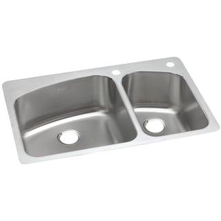Elkay Gourmet Drop In/Undermount Steel DPXSR2250R2R Kitchen Sink
