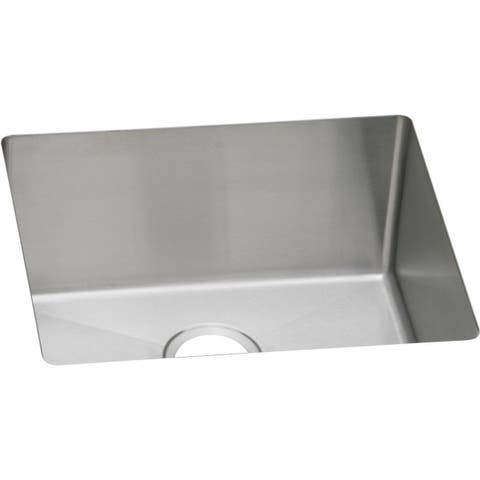 "Elkay Pursuit Stainless Steel 21-1/2"" x 18-1/2"" x 10"", Single Bowl Undermount Laundry Sink"