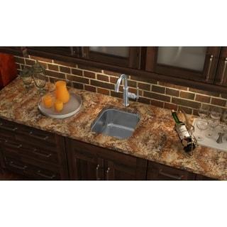 Elkay Gourmet Undermount Steel SCUH1416SH Hammered Mirrored Stainless Steel Kitchen Sink