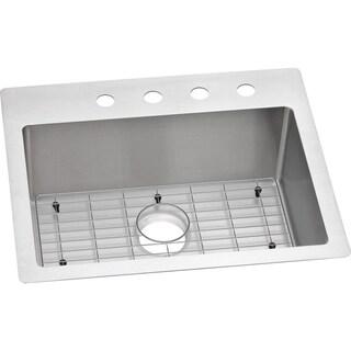 Elkay Crosstown Universal Mount Steel ECTSR25229BG4 Satin Kitchen Sink