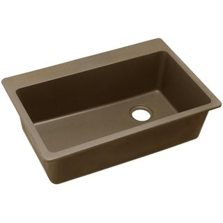 Elkay Top Mount Granite ELG13322MC0 Mocha Kitchen Sink